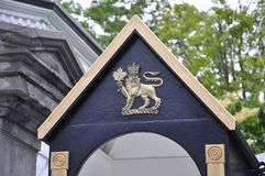 Rideau Hall Domain Entrance Guard Cabin Details from Ottawa in Canada. On 26th June 2017 Royalty Free Stock Image