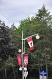 Rideau Hall Domain Pillar Lamp Decoration van Ottawa in Canada Royalty-vrije Stock Foto's