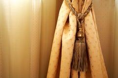 Rideau jaune Image stock