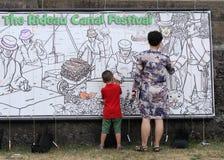 Rideau Kanal-Festival-Farbton-Vorstand lizenzfreies stockfoto