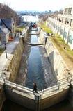 Rideau-Kanal mit wenigem Wasser lizenzfreie stockbilder