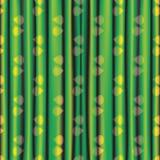 Rideau lumineux brillant jaune vert en tissu avec le modèle d'oeil Photographie stock libre de droits