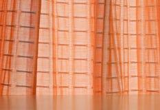 Rideau orange Photo libre de droits