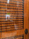 Rideau perlé unique en porte photographie stock libre de droits