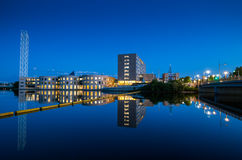 Rideau river and old city hall as clear summer evening approaches. Royalty Free Stock Photo