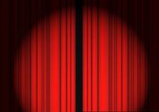 Rideau rouge Photographie stock libre de droits