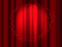 Rideau rouge. Photo stock