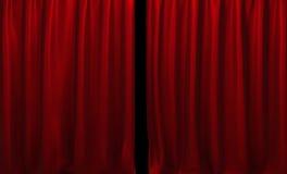 Rideau rouge illustration libre de droits