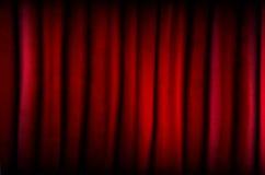 Rideau rouge avec la texture Image libre de droits