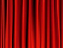 Rideau rouge classique illustration stock