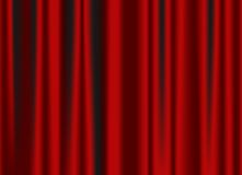 Rideau rouge classique Photo libre de droits