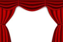 Rideau rouge en étape illustration stock