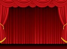 Rideau rouge en tache floue Image stock