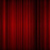 Rideau rouge en théâtre Illustration Stock