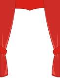 Rideau rouge en théâtre Photos libres de droits