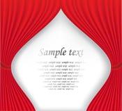 Rideau rouge en théâtre sur le fond blanc Photo stock