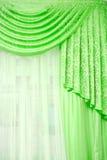 Rideau vert photo stock