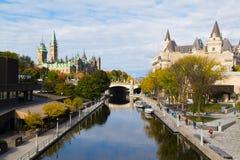 Rideaukanaal - Ottawa royalty-vrije stock afbeeldingen
