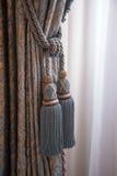 Rideaux dans le palais royal Amsterdam Photographie stock