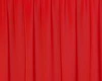 Rideaux en soie froissés par rouge Photographie stock libre de droits