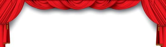 Rideaux en théâtre Photos stock
