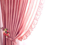 Rideaux et rideaux sur un fond blanc Image libre de droits