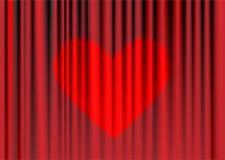 Rideaux rouges Images stock