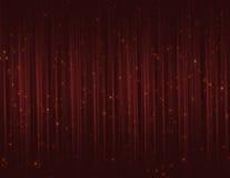 Rideaux rouges en scintillement d'étincelle Photographie stock libre de droits