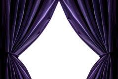 Rideaux violets Photos libres de droits
