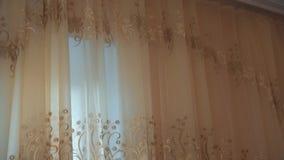 Rideaux visuels avec la corniche et le plafond blanc clips vidéos