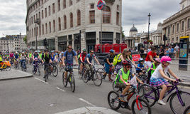 RideLondon循环的事件-伦敦2015年 库存照片