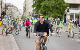 RideLondon Cycling Event - London 2015 Royalty Free Stock Image