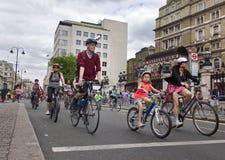 RideLondon Cycling Event - London 2015 Royalty Free Stock Photo