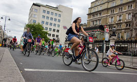 RideLondon Cycling Event - London 2015 Royalty Free Stock Photos