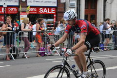 RideLondon cycling weekend. August 3rd to 4th, the cycling event in the first weekend of August, London Royalty Free Stock Photo