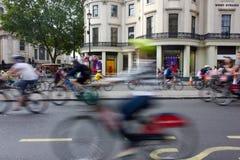 RideLondon som cyklar händelsen - London 2015 Royaltyfri Foto