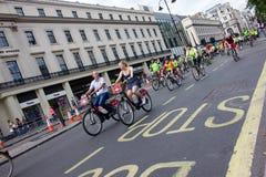 RideLondon som cyklar händelsen - London 2015 Royaltyfria Foton