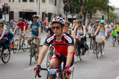 RideLondon som cyklar händelsen - London 2015 Arkivfoton