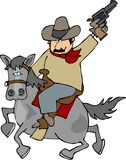 Ridem cowboy. This illustration depicts a cowboy riding a horse Royalty Free Stock Images