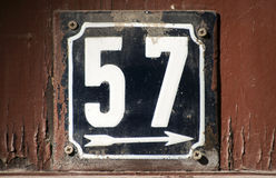 Riden ut emaljerad platta nummer 57 Arkivfoto