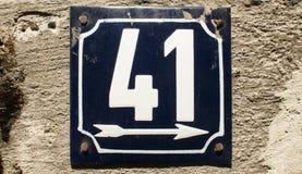 Riden ut emaljerad platta nummer 41 Royaltyfria Foton