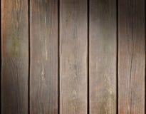 Riden ut träplankabakgrund som diagonalt tänds Arkivbild