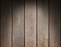 Riden ut träplankabakgrund som tänds från över Arkivfoton