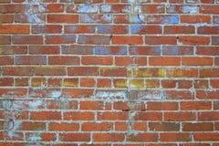 riden ut vägg för 2 tegelsten Arkivbilder