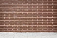 Riden ut väggbakgrund för tegelsten grunge Fotografering för Bildbyråer