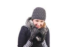 Ridendo nel freddo Fotografie Stock