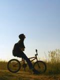 Rider. On bmx Royalty Free Stock Image