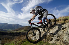Rider in action Royalty Free Stock Photography