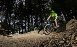 Rider in action at Mountain Bike Royalty Free Stock Image