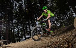 Rider in action at Mountain Bike Stock Photography